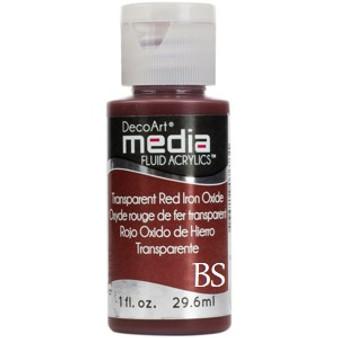 DecoArt Media Fluid Acrylics - Transparent Red Iron Oxide