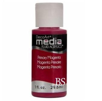 DecoArt Media Fluid Acrylics - Primary Magenta