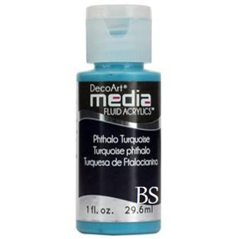 DecoArt Media Fluid Acrylics - Phthalo Turquoise