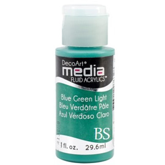 DecoArt Media Fluid Acrylics - Blue Green Light