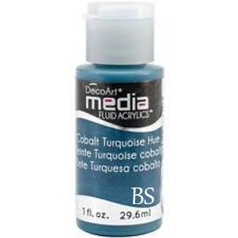 DecoArt Media Fluid Acrylics - Cobalt Turquoise Hue