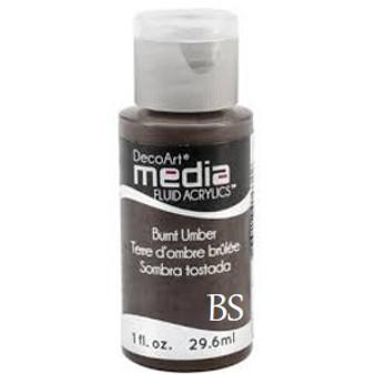 DecoArt Media Fluid Acrylics - Burnt Umber