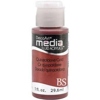 DecoArt Media Fluid Acrylics - Quinacridone Gold