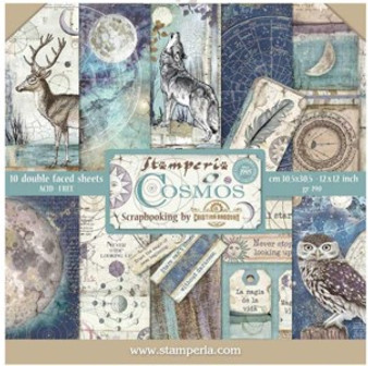 Stamperia Paper Pad - Double Face Cosmos
