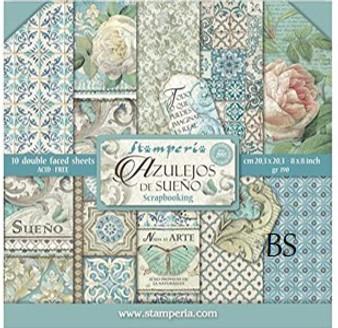 Stamperia Paper Pad - Azulejos De Sueno