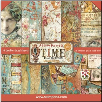 Stamperia Paper Pad - Time is an Illusion