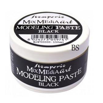 Stamperia Black Modeling Paste 150ml
