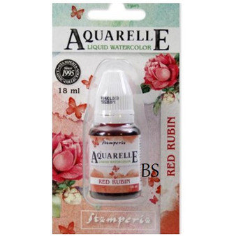 Stamperia Aquarelle Red Rubin