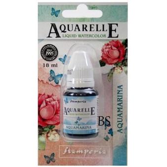 Stamperia Aquarelle Aquamarina
