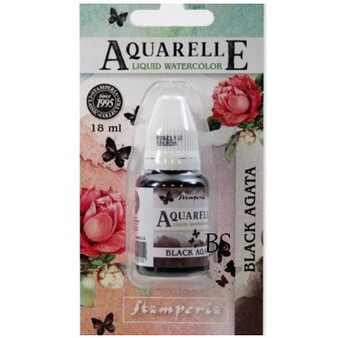 Stamperia Aquarelle Black Agata