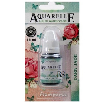 Stamperia Aquarelle Dark Jade