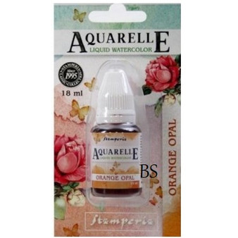 Stamperia Aquarelle Orange Opal
