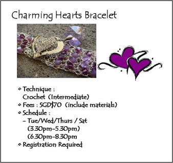 Jewelry Making Course: Charming Heart Bracelet