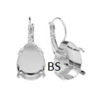 Swarovski 4320 Rhodium Plating Lever Back Earring 18x13mm