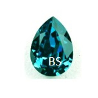 18x13mm Swarovski 4320 Indicolite Pear Fancy Stone