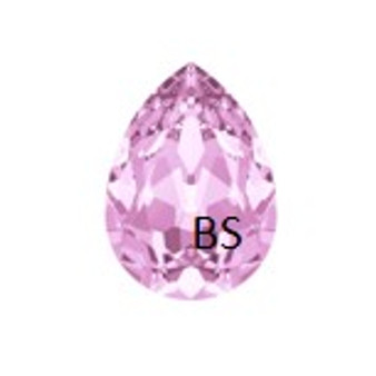 18x13mm Swarovski 4320 Rosaline Pear Fancy Stone