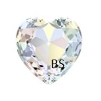 28mm Swarovski 4827 Crystal AB Round Heart Fancy Stone