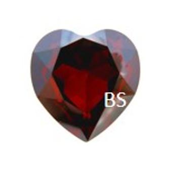 28mm Swarovski 4827 Crystal Red Magma Round Heart Fancy Stone