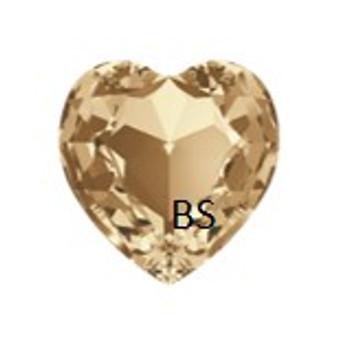28mm Swarovski 4827 Crystal Golden Shadow Round Heart Fancy Stone