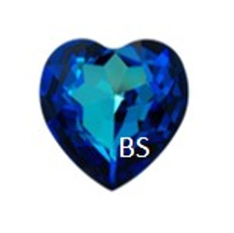 28mm Swarovski 4827 Crystal Bermuda Blue Round Heart Fancy Stone