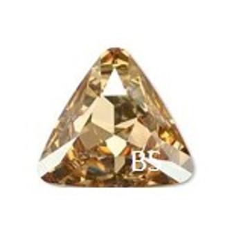 23mm Swarovski 4827 Crystal Golden Shadow Triangle Fancy Stone