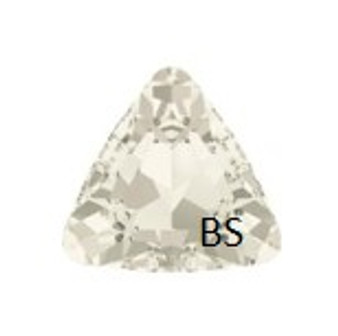 23mm Swarovski 4827 Crystal Silvershade Triangle Fancy Stone
