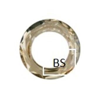 Swarovski 4139 Cosmic Ring Fancy Stone Crystal Golden Shadow 14mm