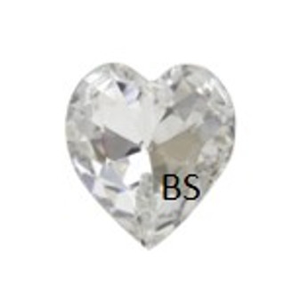 11x10mm Swarovski 4831 Crystal Antique Heart Fancy Stone