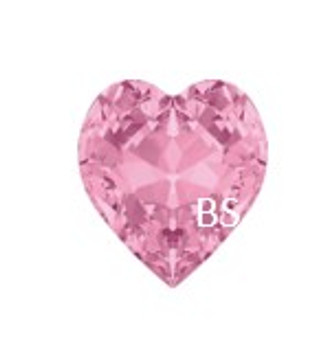 11x10mm Swarovski 4831 Light Rose Antique Heart Fancy Stone