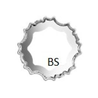 Swarovski 4195/S  Rhodium Plating Open Setting 14mm