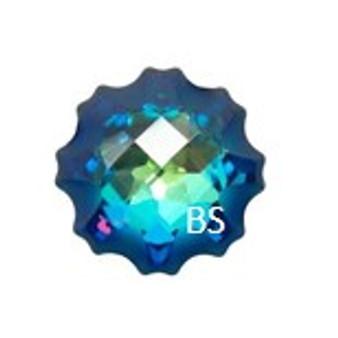 14mm Swarovski 4195 Crystal Bermuda Blue Jelly Fish Fancy Stone