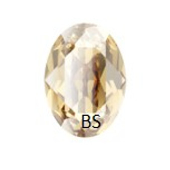 Swarovski 4210 Crystal Golden Shadow 14x10mm Oval Fancy Stone