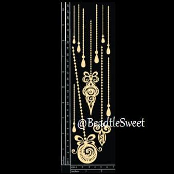 Ornate Pendants Chipboard