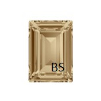Swarovski 4527 Crystal Golden Shadow 18x13mm Step Cut Fancy Stone