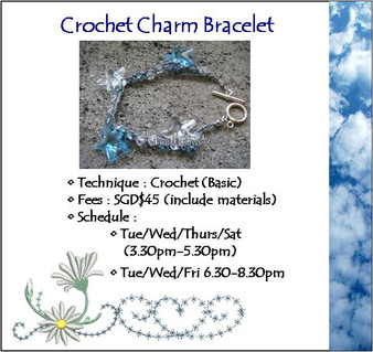 Jewelry Making Course: Crochet Charm Bracelet Workshop