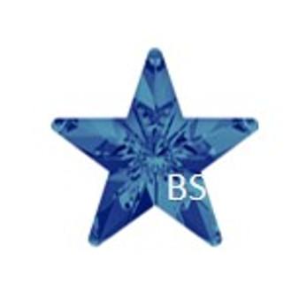 10mm Swarovski 4745 Crystal Bermuda Blue Rivoli Star Fancy Stone