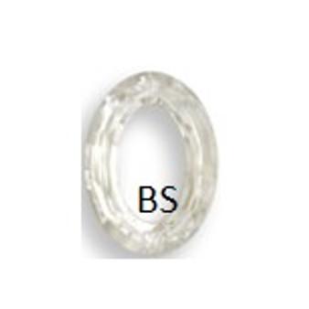 15x11mm Swarovski 4137 Crystal Silvershade V Cosmic Oval Fancy Stone
