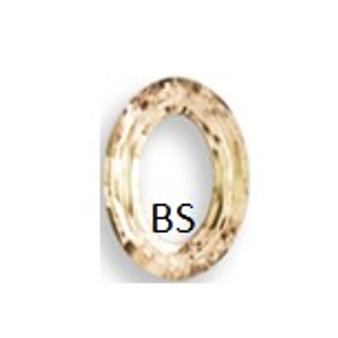 22x16mm Swarovski 4137 Crystal Golden Shadow Cosmic Oval Fancy Stone