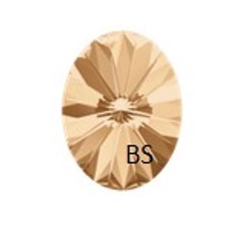 8x6mm Swarovski 4122 Oval Rivoli Fancy Stone Crystal Golden Shadow