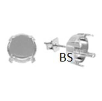 Swarovski 1122 Rhodium Plating Earring Stud 12mm