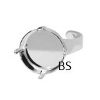 Swarovski 1122 Rhodium Plating Ring Setting 12mm