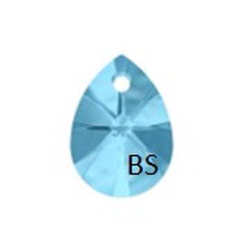 8mm Swarovski 6128 Aquamarine Mini Pear Pendant
