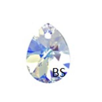 8mm Swarovski 6128 Crystal aB Mini Pear Pendant