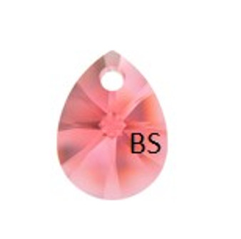 8mm Swarovski 6128 Rose Peach Mini Pear Pendant