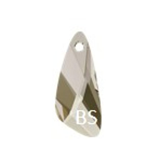 23mm Swarovski 6690 Crystal Silvershade Wing Pendant