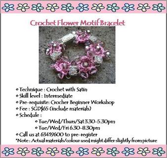 Jewelry Making Course: Crochet Flower Motif Bracelet Workshop