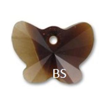 18mm Swarovski 6754 Topaz Blend Butterfly Pendant