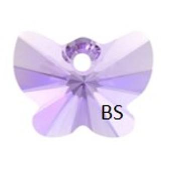18mm Swarovski 6754 Violet Butterfly Pendant