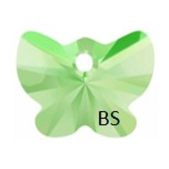 18mm Swarovski 6754 Peridot Butterfly Pendant