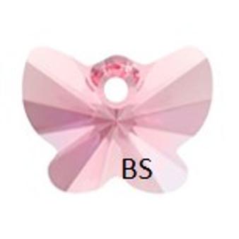 18mm Swarovski 6754 Light Rose Butterfly Pendant